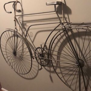 Hand crafted steel bike wall art